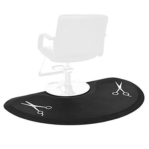 Semi Circle 5'x3' 1/2' Thick Salon & Barber Shop Chair Anti-Fatigue Floor Mat Beauty Supplier (Color 2)