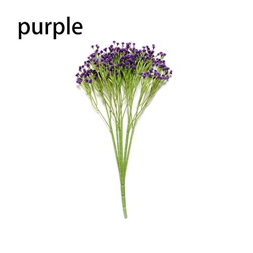 Kunstmatige bloemen kunstplant, kunststof planten simulatie planten, decoratieve vaas voor kamerplanten voor bruiloft / kantoor / thuis decoratie lila