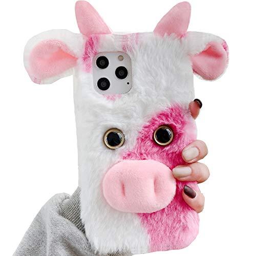 Lenovo K8Note Art Case - Funda para teléfono Lenovo K8Note (hecha a mano, con diseño de cabeza de vaca, suave y ligera, delgada, protección para Lenovo K8 Note, color rosa