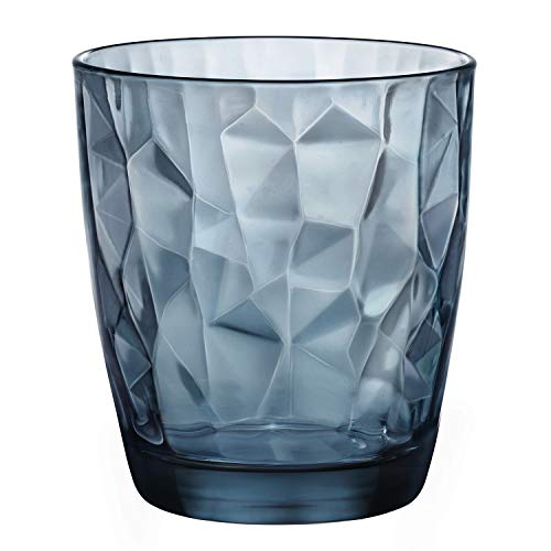 Diamond Blue - Vaso para Whisky, 39 cl, Pack con 6 vasos