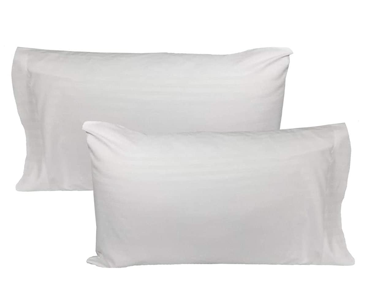 The Great American Store 1500 Series Supreme Collection Pillowcase - King, 2 Count, White Stripe - Soft, Comfortable Wrinkle Free Pillowcases