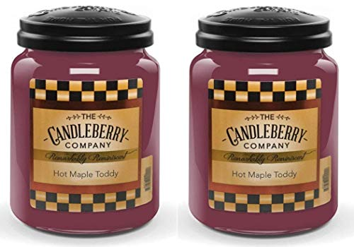 Candleberry Hot Maple Toddy Double Deal 26 Ounce Large Jar Candle