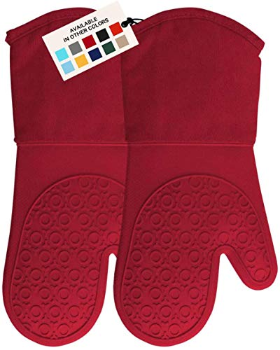 HOMWE Professional Silicone Oven Mitt, Oven Mitts...