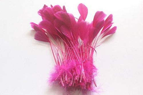 Xucus 500pcs 12-17cm Real Natrual Ultra-Cheap Deals Feathers Goose red Mei trend rank Colored
