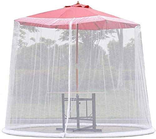 LYYJIAJU Outdoor Mosquito Net Tent Parasol Table Mosquito Net Cover Screen Netting Cover, Mesh Mosquito Net Enclosure for Gazebos, polyester, single Door, zipper (Color : 9.8ft × 7.2ft)