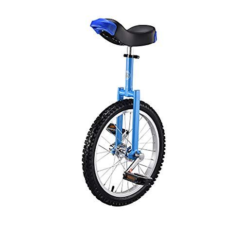 SHARESUN 20-inch stalen vorkframe eenwieler met/comfortabele zadelstoel rubberen mountainbike voor evenwichtsoefening training racefiets fietsen
