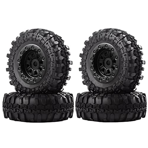 SunniMix 4 Piezas 1,0 'neumáticos de Goma Suave 1,0 Pulgadas neumático para RC orugas Coche SCX24 Accesorios