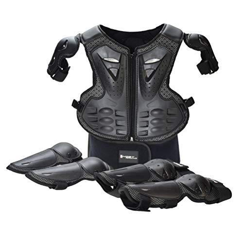 Equipaggiamento Protettivo Completo per Moto, per Bambini, Torace, Schiena e Spalle, Gomiti, Ginocchiere per Motocross, Corsa, Sci, Pattinaggio, Bici