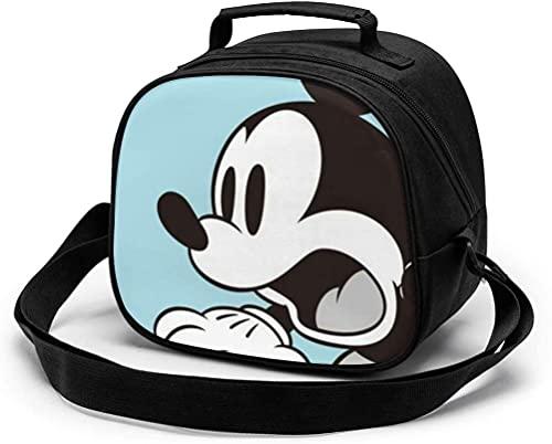 Bolsa de almuerzo para niños, de Mickey Mouse reutilizable, portátil, bolsa de almuerzo con correa para el...