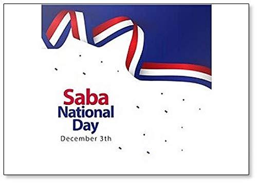 Saba Aimant de réfrigérateur Motif jour national 3 décembre