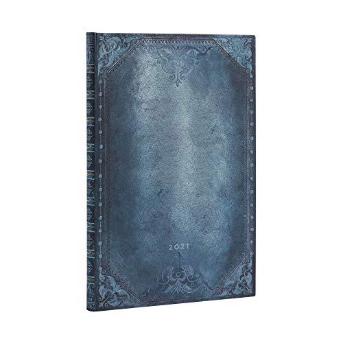 Paperblanks 12-Monatskalender 2021 Peacock Punk Schlicht | Vertikal | Grande (210 × 300 mm)