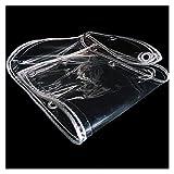 AWSAD Lona Transparente Exterior Espesar Lonas PVC Impermeable Plegable Vidrio Blando con Ojal para Patio Planta Balcón, 25 Tamaños (Color : Clear, Size : 0.5x0.8m)
