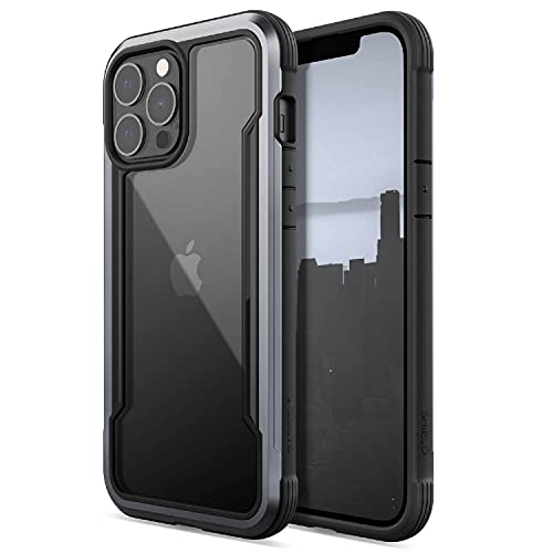 Raptic Shield Case Compatible with iPhone 13 Pro Max Case, Shock Absorbing Protection, Durable Aluminum Frame, 10ft Drop Tested, Fits iPhone 13 Pro Max, Black