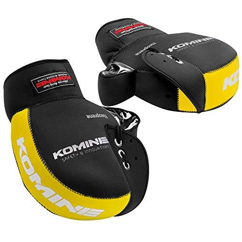 コミネ(KOMINE) バイク用 ネオプレーンハンドルウォーマー/ハンドルカバー ブラック/イエロー フリー AK-021 345