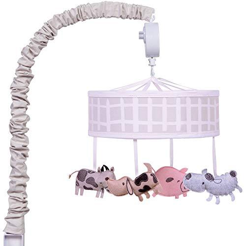 Farm Stack Barnyard Animal Theme Baby Crib Musical Mobile