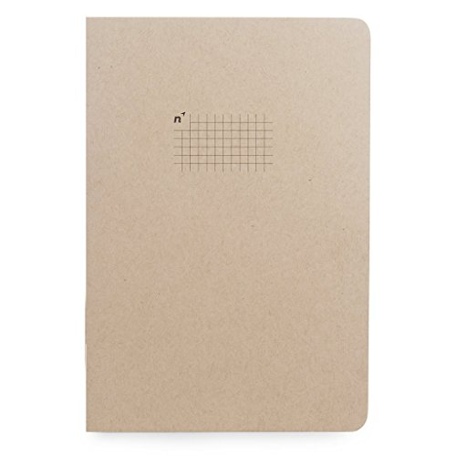 Northbooks USA Eco Graph Paper Notebook | Large 7x10 Journal | 5mm Square Grid/Gridded Pages | Premium Recycled Thick Paper | B5