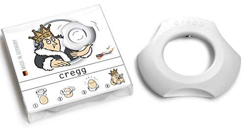 Brainstream A001258 Cregg 3-in-1 topper, beker en servetring De zachte manier om eieren, plastic, wit te openen