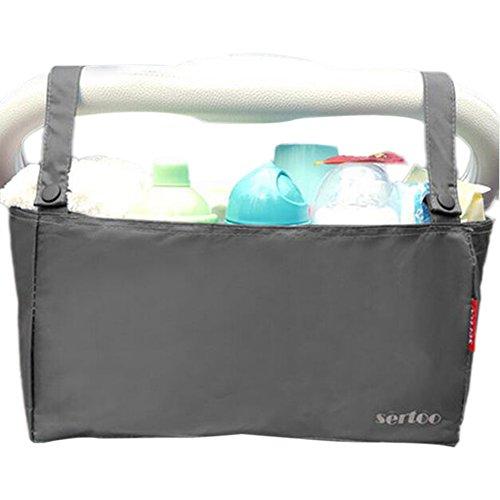 Accessoire pour poussette bébé, organisateur de poussettes [Gris]