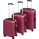tectake Set de 3 valises de Voyage de ABS | avec Serrure à Combinaison intégrée | poignée...