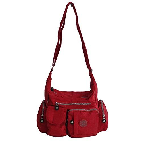 Bag Street -präsentiert von ZMOKA® , Borsa Messenger  Unisex adulto, rosso (Rosso) - 0