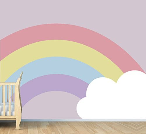Rainbow and Cloud - Nursery Max 79% OFF Wall Decorations for Award-winning store Baby Decal ROM