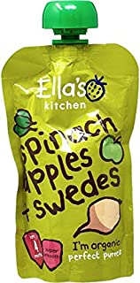 Ella's Kitchen Organic Puree, Spinach, Apples And Swedes, 120g (Pack of 1)