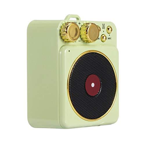 Práctico Altavoz inalámbrico Retro inalámbrico Altavoz inalámbrico portátil ni música Altavoz de Sonido estéreo 500 mah (Verde;) BCVBFGCXVB