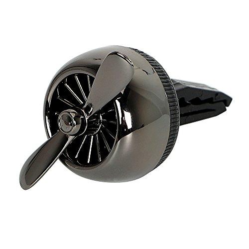 NOPNOG Désodorisant pour voiture Ornement de voiture prise d'air vent Clip Parfum Désodorisant Noir