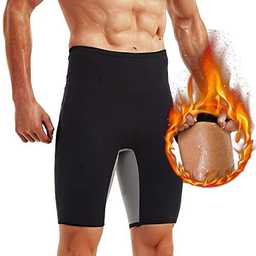 IFLOVE Pantalones de Sauna de Sudor Caliente para Hombre Pantalones Cortos de Adelgazamiento térmico Moldeador de Muslo para modelador de Cuerpo de Entrenamiento (S)