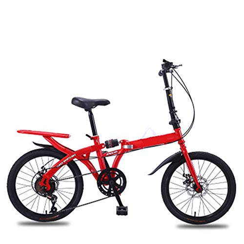 ABDOMINAL WHEEL Bikes Bicicleta Plegable Urbana,Bicicleta Plegable-Cambio de 6 Velocidades con Piñón Libre para Exterior, Fácil de Transportar, Unisex Adulto