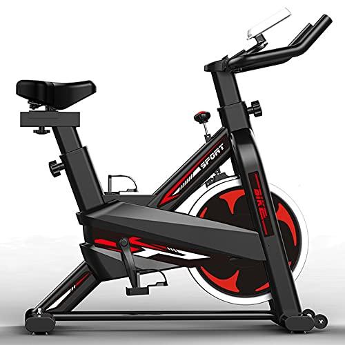 LHQ-HQ Bicicleta De Ciclismo para Interiores Estacionaria con Soporte para Tableta Y Monitor Bicicleta De Entrenamiento con Transmisión por Correa Silenciosa Bicicleta De Entrenamiento para El Hogar