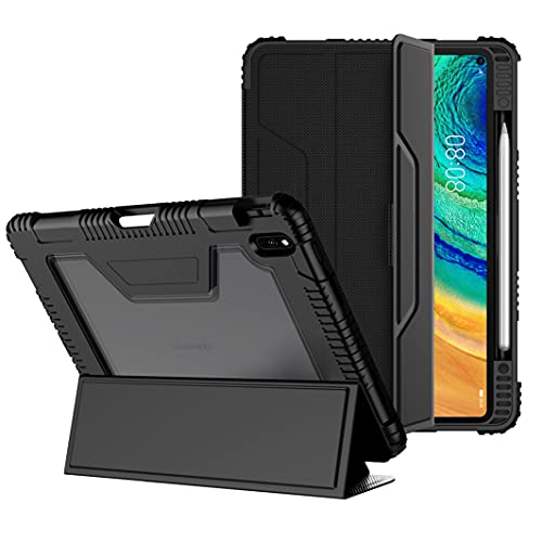 Case for Huawei Matepad Pro 10.8 - Full Body Protective Case with Screen Protector, PU Leather Smart Cover with Pencil Holder and Auto Sleep/Wake