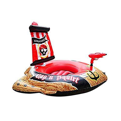 Gcxzb Schwimmreifen Riesige aufblasbare Piratenschiff Schwimmreihe, Sommerspielzeug Aufblasbare Pool Float Wasser Float Floß Ritt auf Pool Liege Neuheit Strand Spielzeug Geeignet für Kinder
