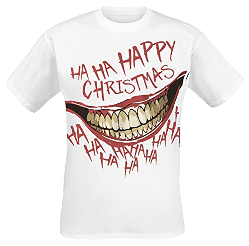 Batman t- Shirt, Blanc, XL Homme