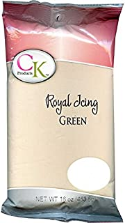 CK Products 77-101G Cake Decorating Royal Icing Mix, 1 lb, Green