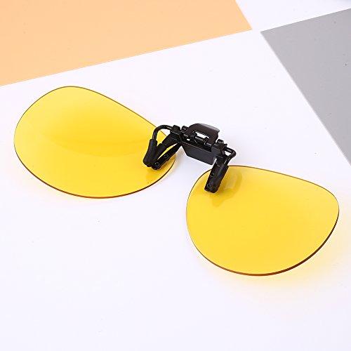 Sedeta Gelb Myopie Fashion Sonnenbrille für Nachtsicht Unisex Brillenclip Geschützte polarisierte Linsen für Mann Frau