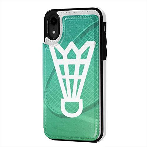 MoMo iPhone XR Fall Badminton Karten Leder Kreditkarte-Schlitz-Halter Soft-Closure-Schutzüberzug