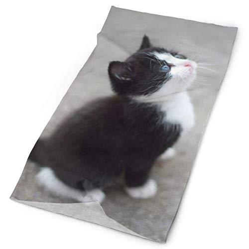 NA - Polainas de cuello para niños y niñas jóvenes, multiuso, Mujer, color Gato divertido blanco y negro, tamaño 10x20 inch (25x50cm)