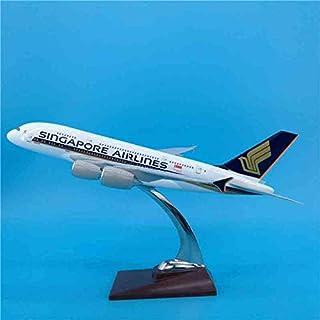 1:2 スケール 36 cm飛行機シンガポール航空エアバスA380 航空会社模型 プラスチック樹脂飛行機コレクション