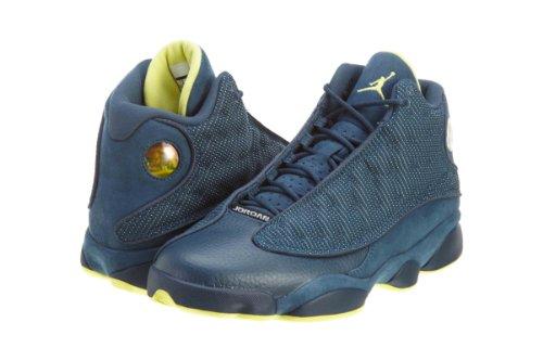 Nike Air Jordan 13 Retro Squadron Blue Electric Yellow (414571-405)