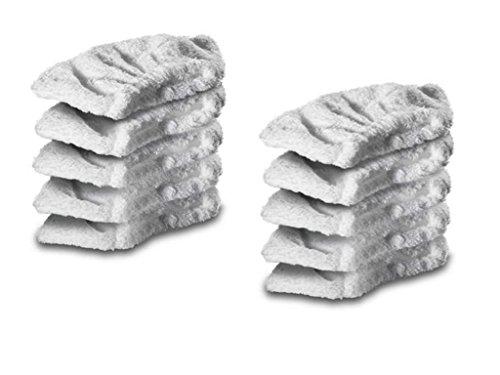 Deals365 Coton Housse en tissu éponge Coussinets pour Karcher nettoyeur vapeur Outil à Main (lot de 10)