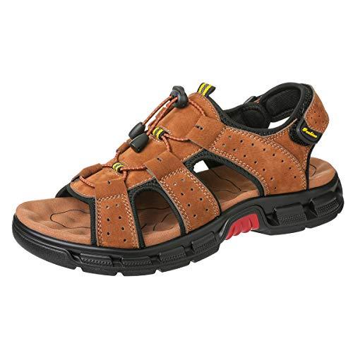 Camfosy CAMFOSY Unieu3242 - Sandalias deportivas de Cuero para hombre, color Marrón, talla 41 EU