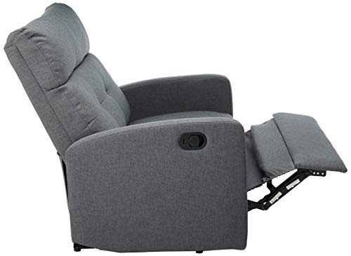 Christopher Knight Home Halima Fabric 2-Seater Recliner, Charcoal
