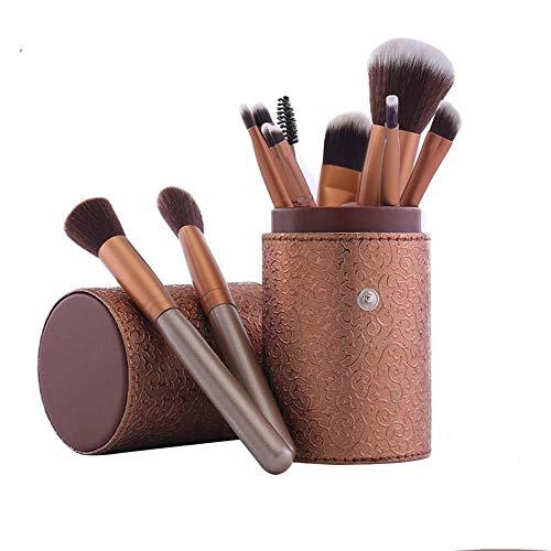 diamanstar Pinceau de Maquillage-Pinceaux cosmétiques Portables pour Poudre Libre, Contour, Teinte, surligneur, Fard à paupières et Fond de Teint, 12 pièces, A
