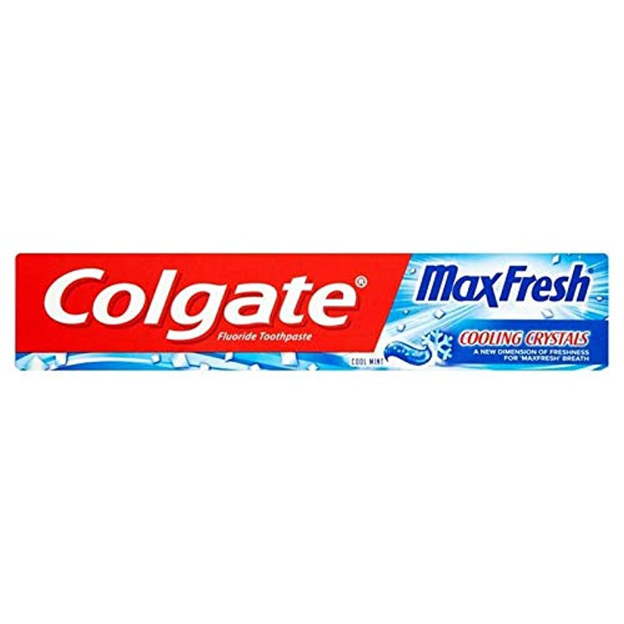 雲先住民家庭[Colgate ] 冷却結晶歯磨き粉75ミリリットル新鮮なコルゲートマックス - Colgate Max Fresh with Cooling Crystals Toothpaste 75ml [並行輸入品]