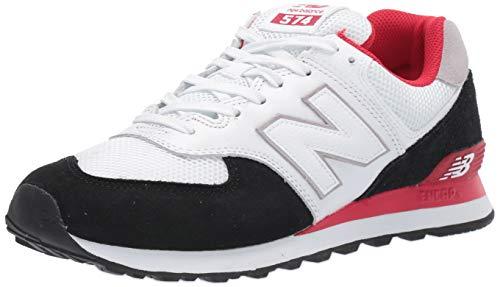 New Balance Herren 574v2 Sneaker, Schwarz Schwarz Rot Schwarz Rot Schwarz Rot, 42 EU