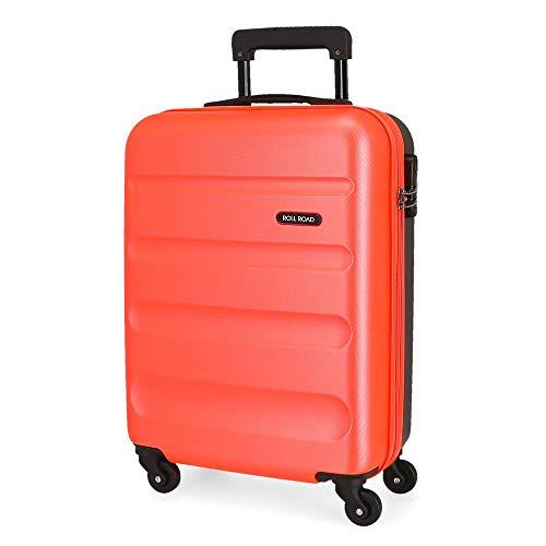 Roll Road Flex Maleta de cabina Multicolor 38x54x20 cms Rígida ABS Cierre combinación 35L 2,5Kgs 4 Ruedas Equipaje de Mano