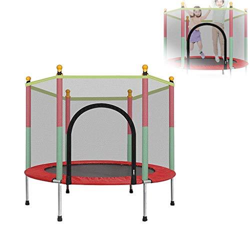 Trampolín Combo con Red - 2020 Cama elástica para niños - Peso máximo: 100 kg - Trampolín para Ejercicios, trampolín para Interiores y Jardines, Ideal para niños y Adultos
