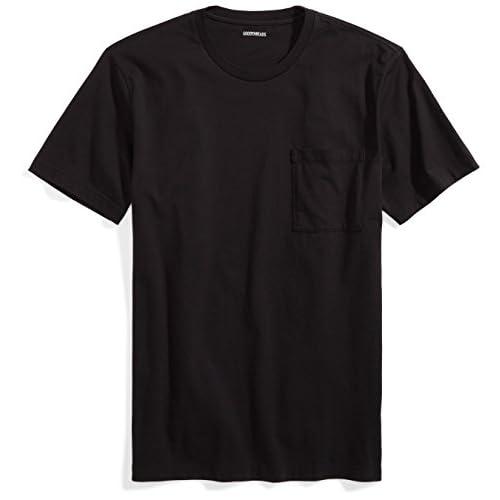 Goodthreads Short-Sleeve Crewneck Cotton Pocket T-Shirt, Nero (Black), X-Large