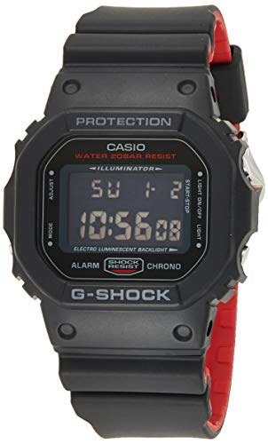 Casio G-SHOCK Orologio 20 BAR, Nero, Digitale, Uomo, DW-5600HR-1ER